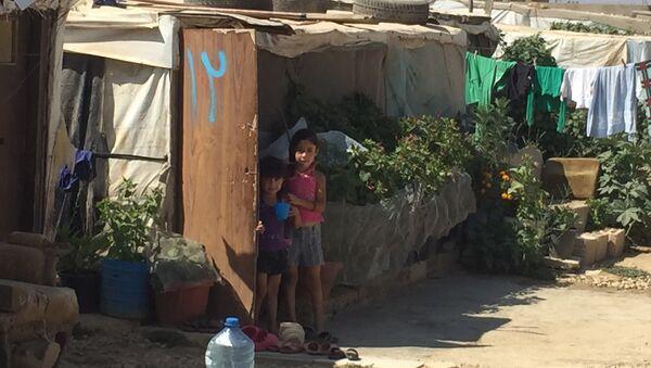 Сирийские дети в лагере беженцев в долине Бекаа. Архивное фото