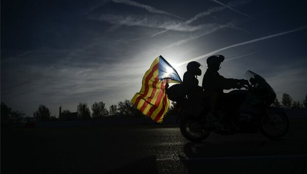 Флаг Каталонии. Архивное фото