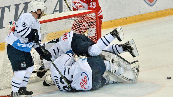 Хоккей. КХЛ. Матч Спартак - Медвешчак