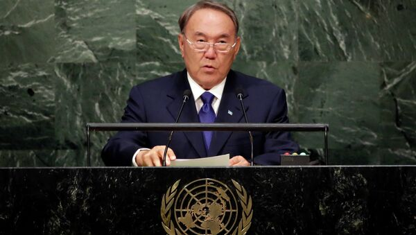 Выступление Нурсултана Назарбаева в ООН. Архивное фото