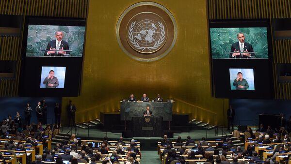 Президент США Барак Обама выступает в ООН