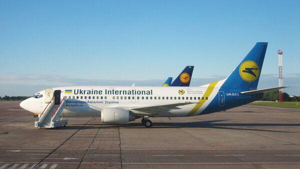 Самолеты Международных авиалиний Украины в аэропорту Борисполя. Архивное фото