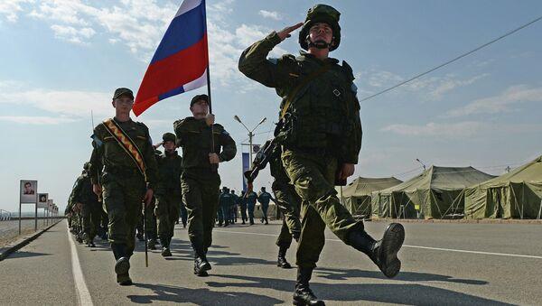 Военнослужащие подразделения миротворческой бригады. Архивное фото