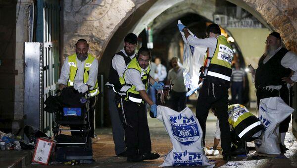 На месте нападения палестинца на израильтян в Старом городе Иерусалима