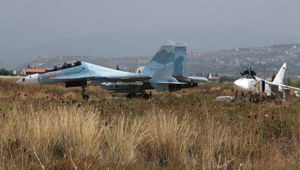 Российская боевая авиация на аэродроме Хмеймим в Сирии