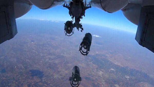 Нанесение точечных авиаударов ВКС России