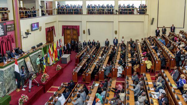 Заседание парламента Египта. Архивное фото