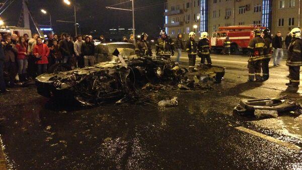ДТП у Крымского моста с автомобилем Ferrari