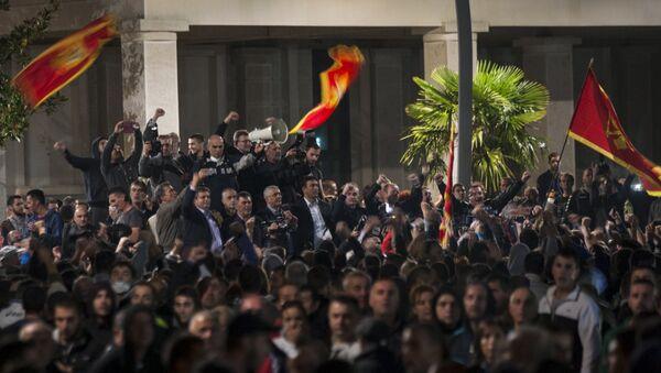Акция оппозиции в Черногории. Архивное фото