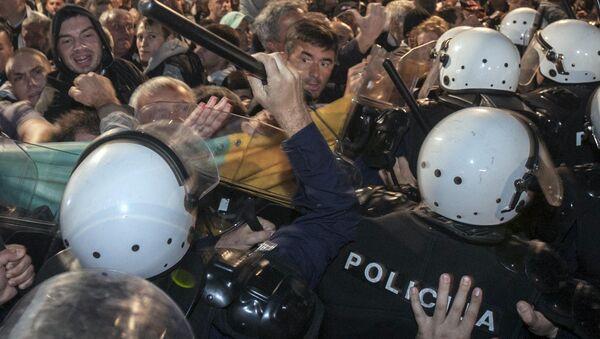 Акция оппозиции в Черногории. Октябрь 2015