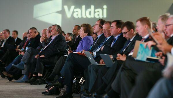 Участники на открытии 12-го ежегодного заседания Международного дискуссионного клуба Валдай. Архивное фото