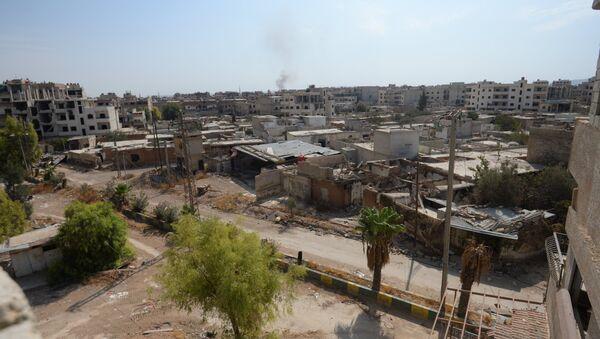 Разрушенные дома в пригороде Дамаска Дарайе. Архивное фото