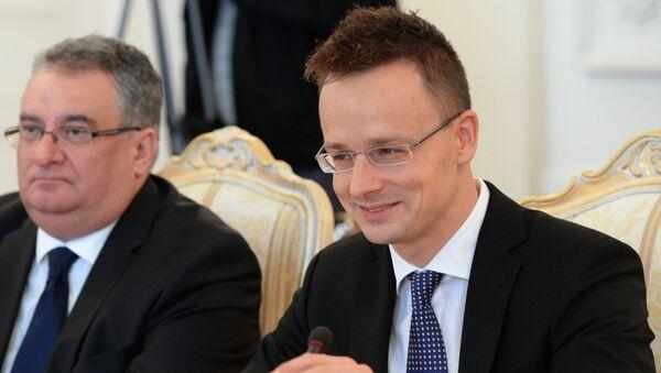 Министр внешнеэкономических связей и иностранных дел Венгрии Петр Сиярто