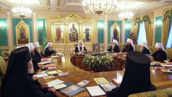 Заседание Священного Синода Русской православной церкви в Москве. Архивное фото