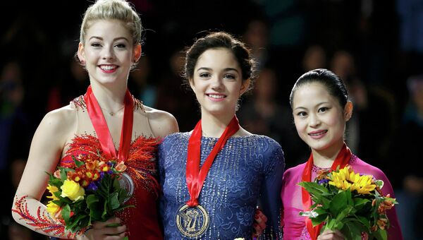 Тройка победителей Гран-при Skate America в США