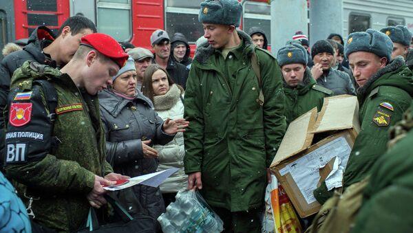 Осенний призыв на военную службу в Омске. Архивное фото