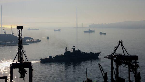 Отряд кораблей Тихоокеанского флота. Архивное фото
