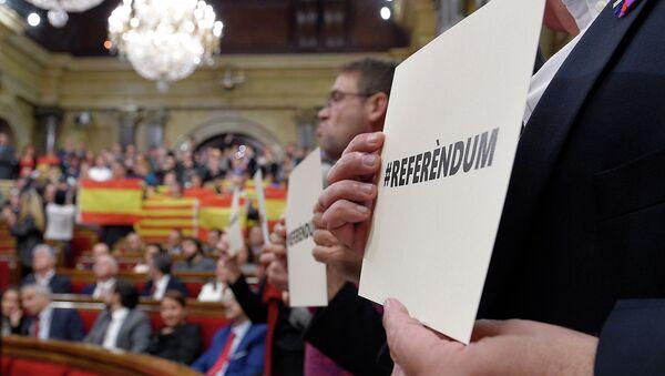 Заседание парламента Каталонии. Архивное фото