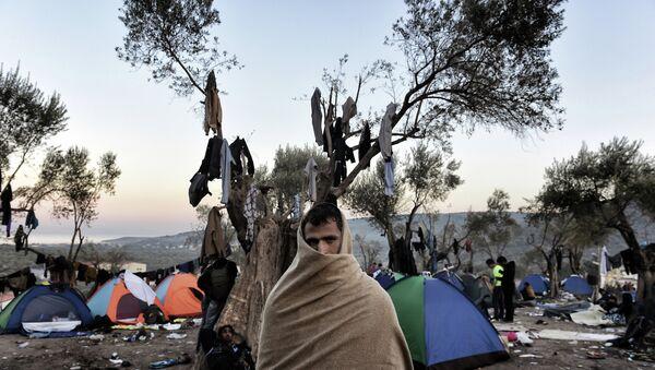 Мигрант на острове Лесбос, Греция. Архивное фото