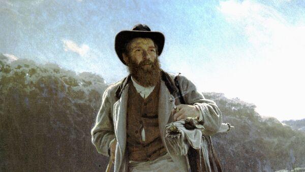 Репродукция картины Портрет художника И. И. Шишкина. Архивное фото