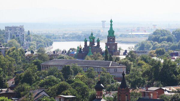 Вид на город Краснодар, архивное фото