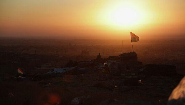 Курдские вооруженные силы возле города Синджар. Архивное фото