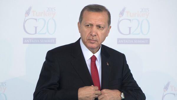 Президент Турции Тайип Эрдоган на открытии саммита Группы двадцати. Архивное фото