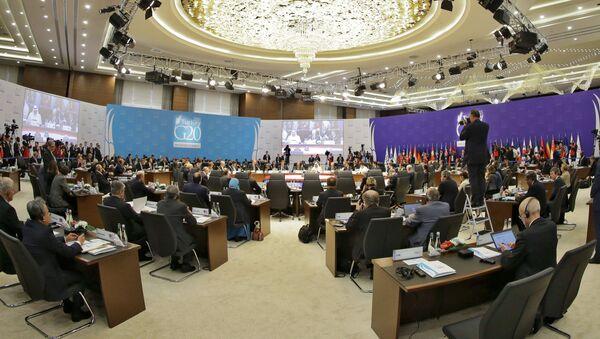 Участники саммита G20 в турецкой Анталье