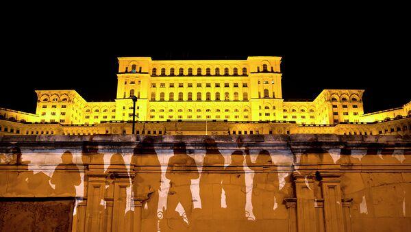 Здание румынского парламента в Бухаресте. Архивное фото