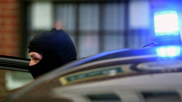 Немецкий полицейский. Архивное фото