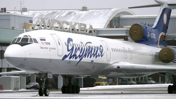 Самолет Ту-154М авиакомпании Якутия. Архивное фото