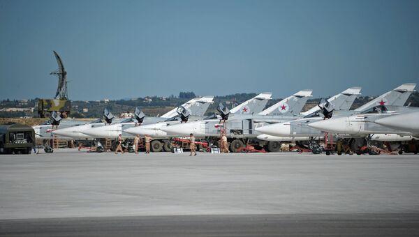 Российская боевая авиация на авиабазе Хмеймим в Сирии