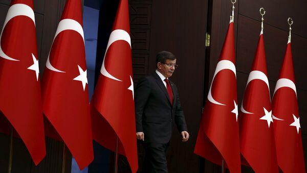 Премьер-министр Турции Ахмет Давутоглу в Анкаре, Турция