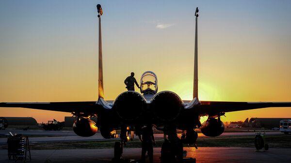 Самолет ВВС США F-15E Strike Eagle. Архивное фото