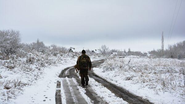 Поселок Донецкий в ЛНР. Архивное фото