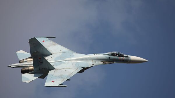 Многоцелевой истребитель Су-27СМ3. Архивное фото