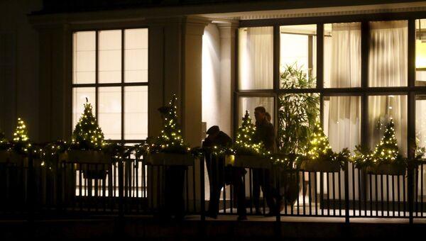 Постояльцы отеля, где производится арест должностных лиц ФИФА в Цюрихе, Швейцария