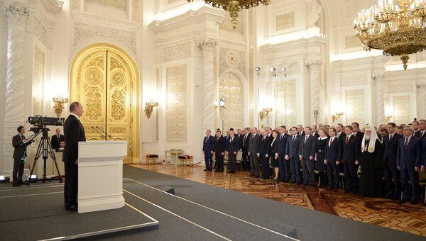 Обращение президента РФ В.Путина с ежегодным посланием к Федеральному Собранию. Архив