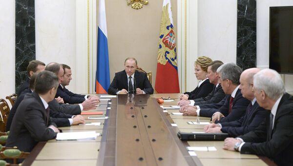 Президент России Владимир Путин провел заседание Совбеза РФ. Архивное фото