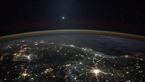 Вид Земли из космоса. Архивное фото