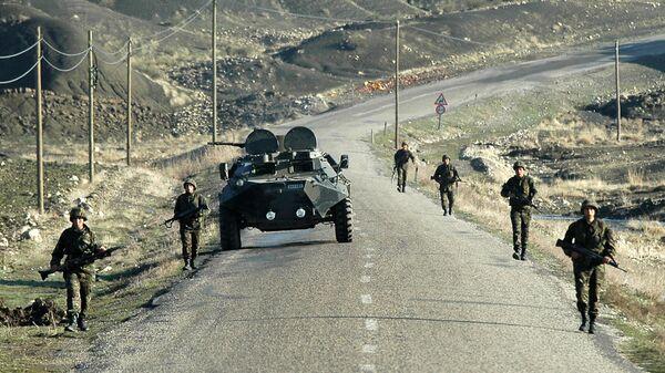 Турецкие военные на границе с Ираком. Архивное фото.
