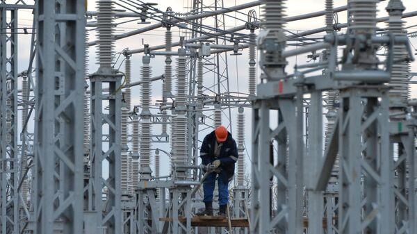 Строительство энергомоста через Керченский пролив. Архивное фото