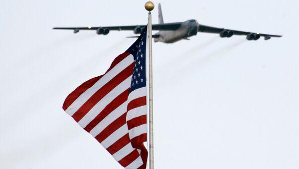 Американский стратегический бомбардировщик B-52. Архивное фото