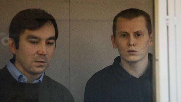 Заседание суда по делу Е. Ерофеева и А. Александрова в Киеве. Архивное фото