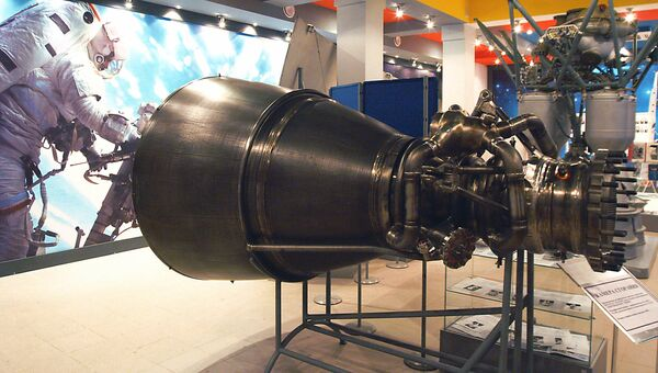 Камера сгорания. Предназначена для жидкостных двигателей (ЖРД) РД-171 М, РД - 171 М, РД -191, используемых вдвигателях РД 180, предназначенных для американских ракетоносителей Атлас. Архивное фото