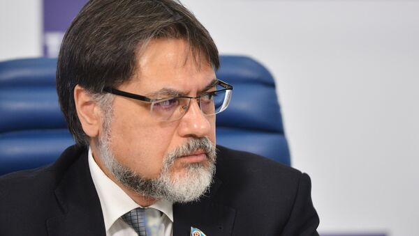 Представитель Луганской народной республики (ЛНР) Владислав Дейнего. Архивное фото