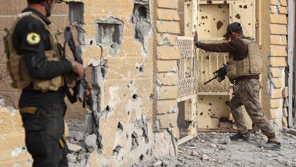 Иракские силы безопасности в городе Эр-Рамади. Архивное фото