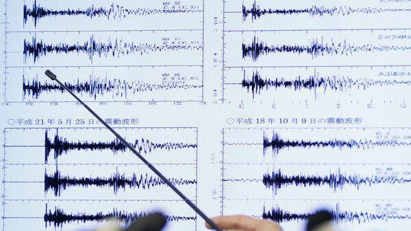 Показания сейсмографов, зафиксировавшие ядерный взрыв в КНДР