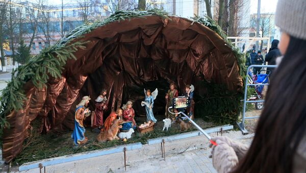 Рождественский вертеп. Архивное фото