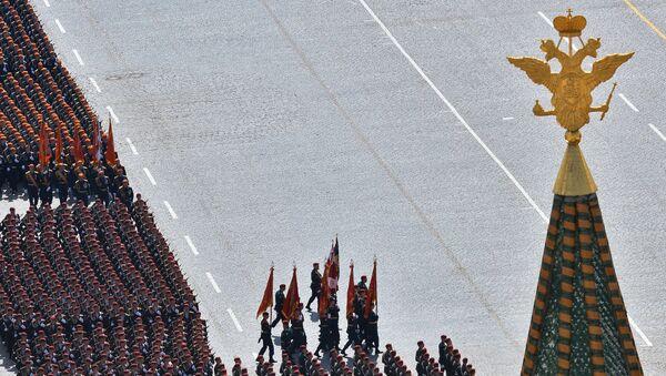 Военный парад в ознаменование 70-летия Победы в Великой Отечественной войне 1941-1945 годов. 9 мая 2015 года. Архивное фото